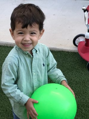 Joseph with green ball